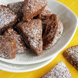 Šokoladiniai sausainiai su bananais