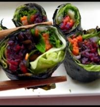Daržovių suši.