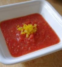 šalta pomidorų sriuba