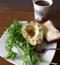 Pusryčiai su avokadu