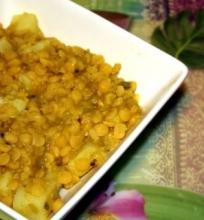 Zirnių troškinys (košė?)su bulvėmis