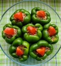 Sibelės įdarytos žalios saldžiosios paprikos