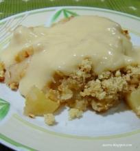 Obuolių ir kriaušių pyragas su rozmarinais