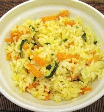 Ryžiai su morkomis ir cuknijomis