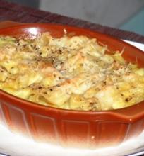 Makaronų ir sūrio apkepėlė
