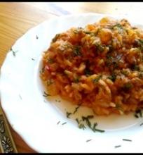 Mėsos ir daržovių risotto
