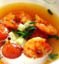 """Krevečių sriuba su a la """"Gaspacho"""""""