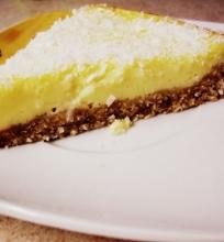 Citrinų, kokoso ir sūrio pyragas