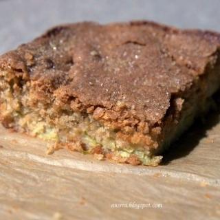 Migdolinis rabarbarų pyragas