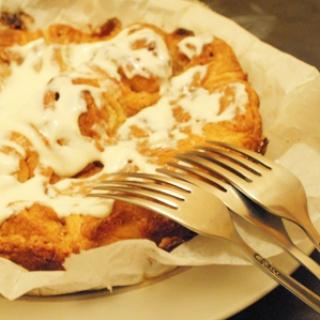 Mielinių bandelių pyragas
