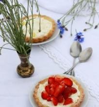 Tartaletės su mascarpone ir braškėmis