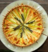 Daržovių pyragas su garstyčiomis