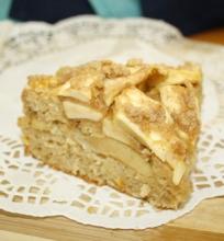 Grietinės pyragas su obuoliais