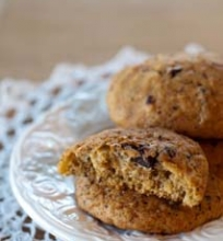 Moliūginiai sausainiai su šokoladu