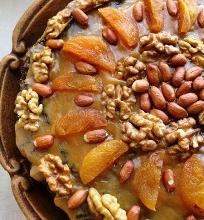 Japoniškas aguonų ir obuolių pyragas