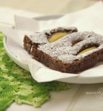 Šokoladinis kriaušių pyragas