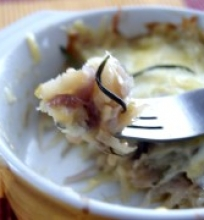 Bulvių ir porų apkepas