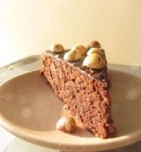 Šokolado ir lazdyno riešutų pyragas