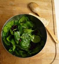 Špinatų salotos su džiovintom spanguolėm