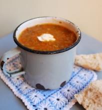 Beatos tiršta lęšių ir morkų sriuba