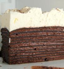 Šokoladinių blynelių tortas