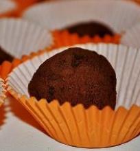 Juodojo šokolado triufeliai