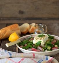 Ridikėlių salotos su mėtomis ir feta