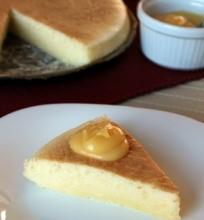 Japoniškas sūrio pyragas su citrininiu kremu