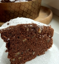 Šokoladinis morkų keksas