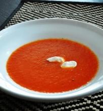 Raudonųjų paprikų sriuba