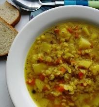 Skaidri skaldytų žirnių sriuba