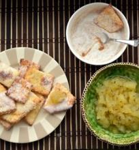Varškės sausainiai su obuoliene