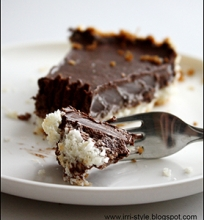 Šaldytas kokoso ir šokolado pyragas